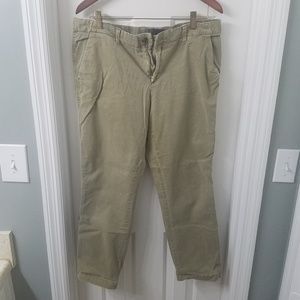 GAP army green distressed capris